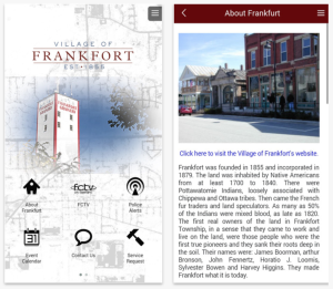 Village of Frankfort Smartphone Application